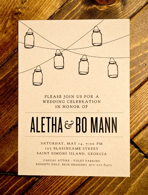 Backyard Bbq Wedding Invitation Wording Aletha Bo Wedding Alread Designs Graphic Design
