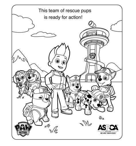paw patrol giant coloring pages 12 best images about paw patrol party printables blue on