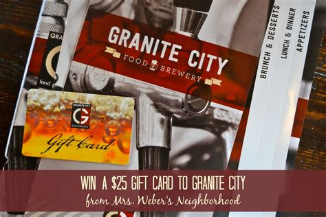 Granite City Gift Card - 11 reasons to visit granite city northville 25 gift card giveaway ends 4 21