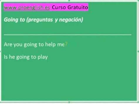 preguntas con negacion aprender ingles going to preguntas y negacion youtube