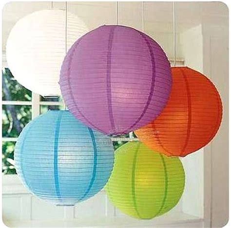 Sale 10 Quot 25cm Multi Color Chinese Paper Lantern Lshade Paper Lights