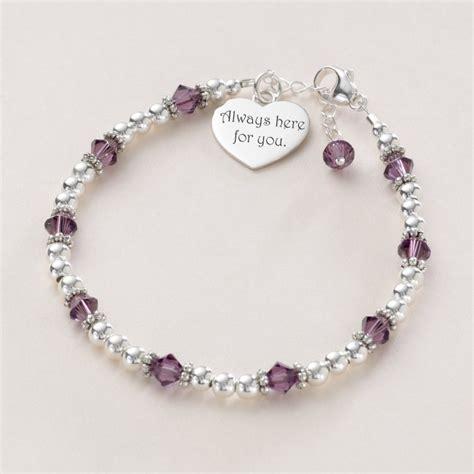 multi birthstone bracelet sterling silver