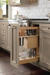Pull Out Kitchen Cabinets Base Utensil Pantry Pull Out Cabinet With Knife Block Transitional Kitchen Denver By Cw