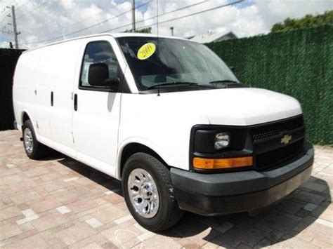 find used 2008 chevy express work cargo van one owner 4 3l auto ac air in pompano beach florida