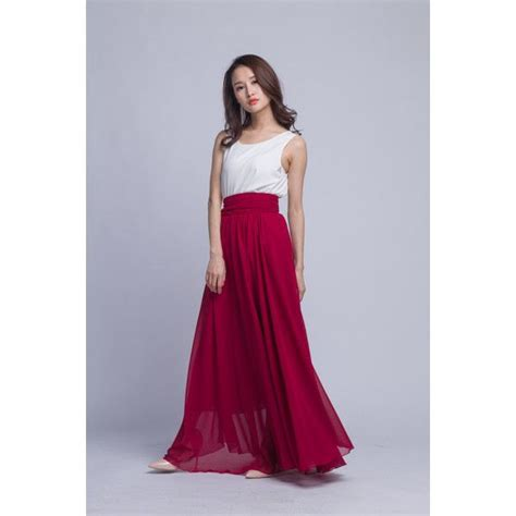 17 best ideas about pleated chiffon maxi skirt on