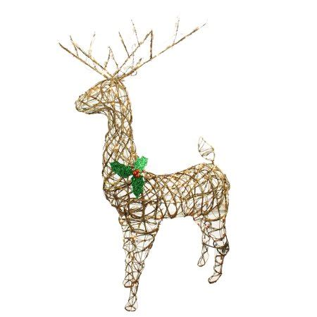 lighted grapevine reindeer outdoor christmas 57 quot standing grapevine reindeer lighted yard decoration clear lights walmart