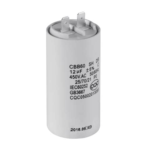 12uf run capacitor cbb60 12uf 450v ac motor run start capacitor 50 60hz for washing machine hs839 ebay