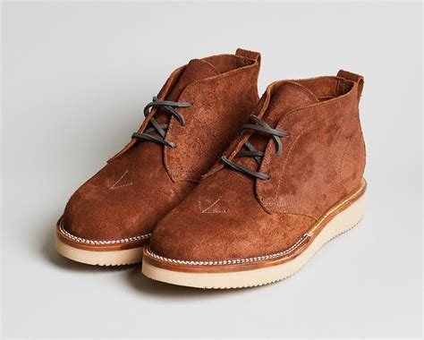 Sepatu Azcost Chukka Boots Original Handmade nigel cabourn references the original desert boot for his collaboration with viberg acquire