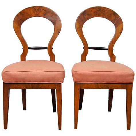 side by side recliners pair of italian biedermeier style side chairs for sale at