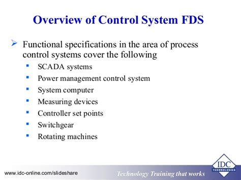 design of industrial automation functional specifications