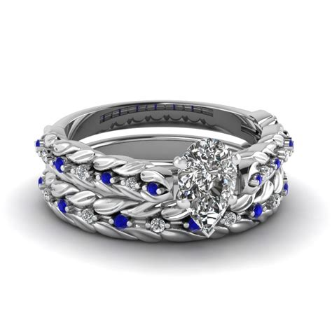 Set Wedding by Buy Pear Shaped Wedding Sets Fascinating Diamonds