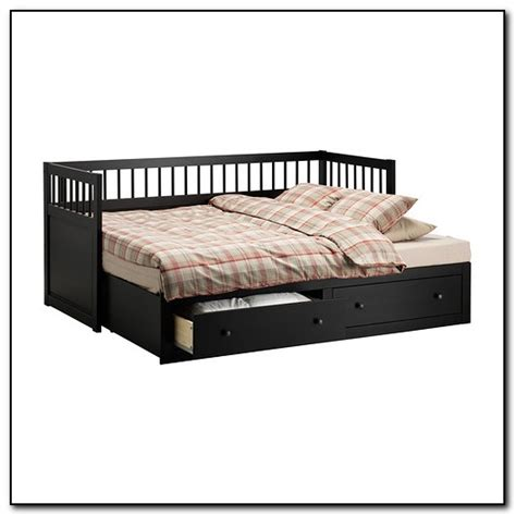ikea day bed trundle hemnes daybed design ideas black white brown bedroom