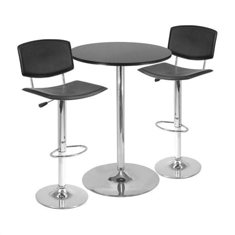Pub Table Set by 3 Bar Height Pub Table Set In Black 93340