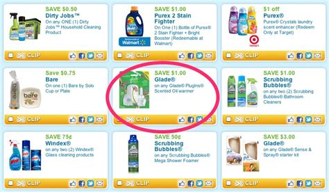 real printable grocery coupons the thrifty deafies dollar general free glade