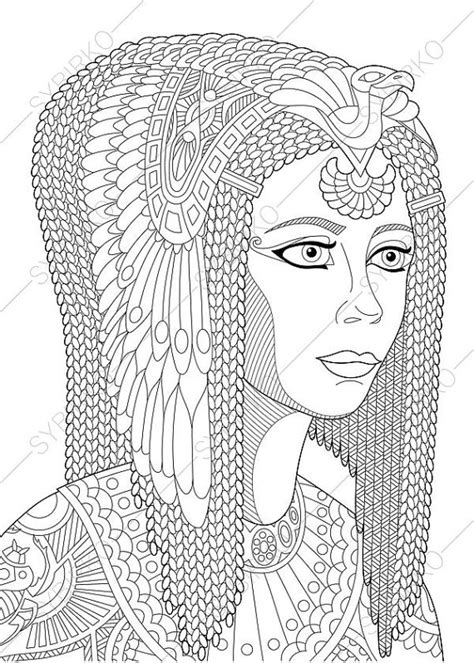 cleopatra coloring pictures to pin on pinterest pinsdaddy