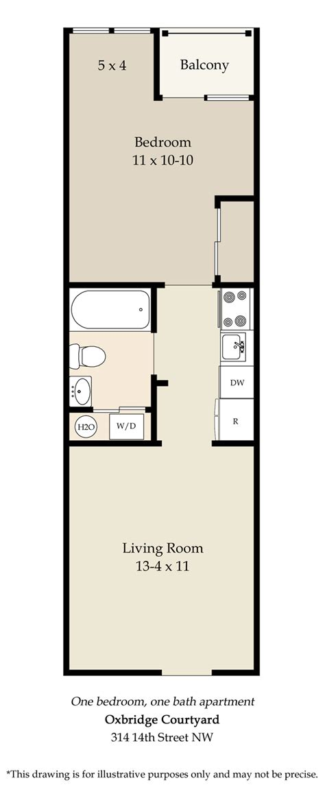 one bedroom floor plans 1 bedroom floor plan