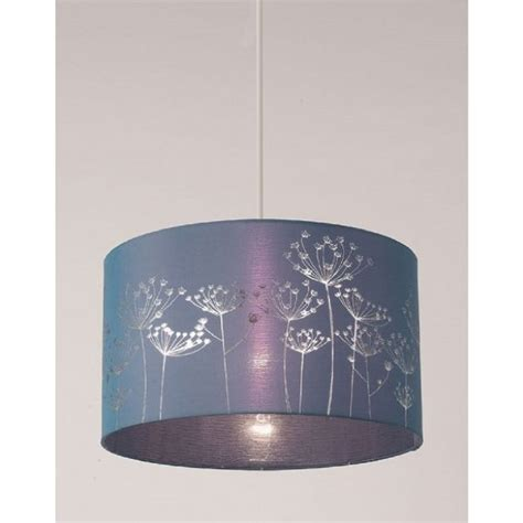 alium easy fit non electric faux silk ceiling shade in teal