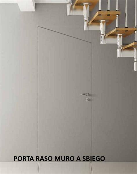 rasomuro porte porta filomuro rasomuro 80 x 240 con serratura invisibile