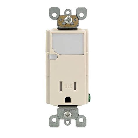 leviton receptacle z01026 leviton ter resistant outlet led light almond goodebuns