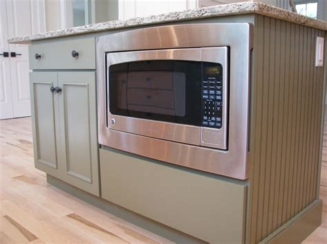 microwave in island kitchen