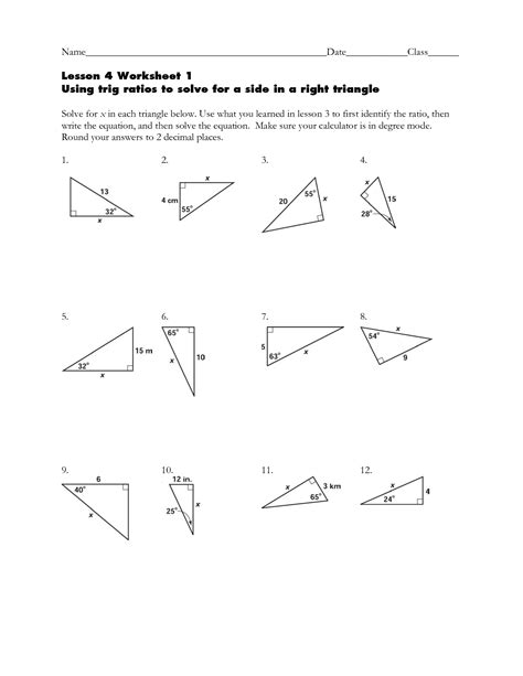 Trigonometry Ratios Worksheet by Trigonometry Word Y Clipart Clipart Suggest