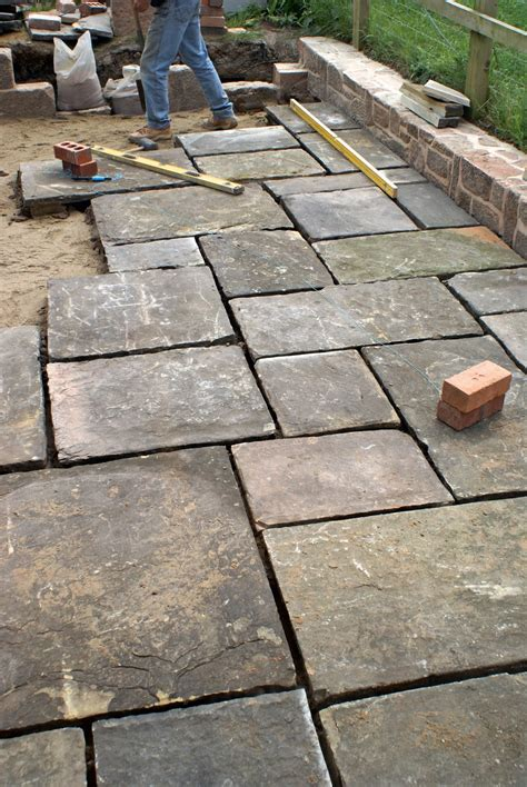 flagstone pavers patio gardener paving