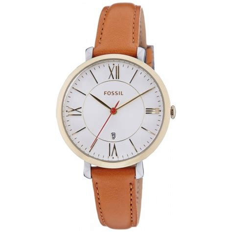 fossil es3737 jacqueline brown leather band for