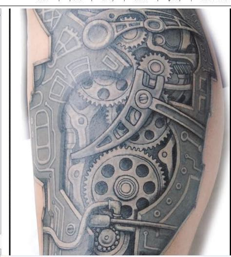 biomechanical motor tattoo 27 car parts tattoos