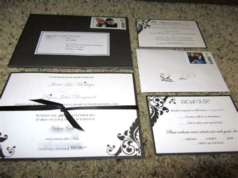 damask wedding invitation kits semi diy brides from damask invitations