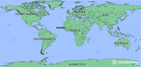 where is senegal on the world map where is senegal where is senegal located in the world