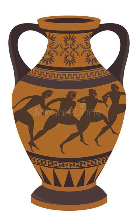 vaso greco antico vaso greco illustrazione vettoriale illustrazione di