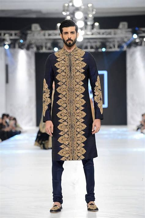 HSY black and gold sherwani designs 2016 2017   Black and