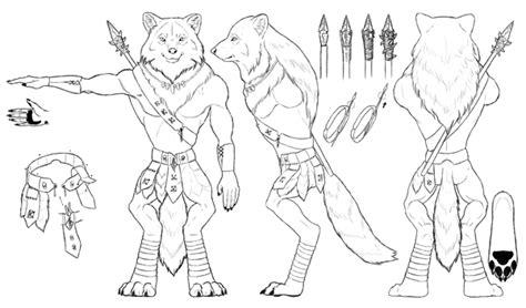maya werewolf tutorial design and draw a model sheet of a werewolf warrior