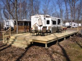Cost Per Square Foot To Build A Home Treated Wood Deck Hickory Acres Campground Edgerton