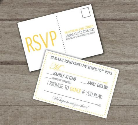 Wedding Invitation Number Of Guests Attending by 21 Best Images About Wedding Response Cards On