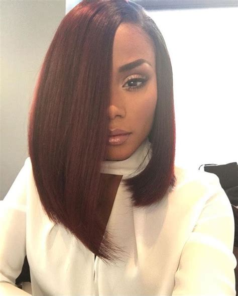 black hairstyles for miami babe 14 quot brazilian straight hair extension ombre burgundy