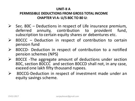 deduction under section 80ccg permissible deductions from gross total income chapter vi