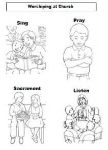 worshiping at church coloring sheet