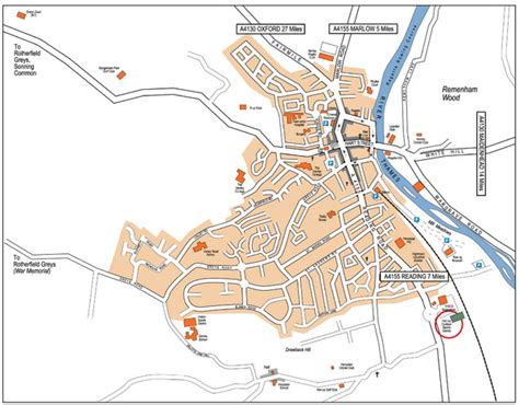 Henley On Thames River Map | henley on thames map henley on thames england mappery