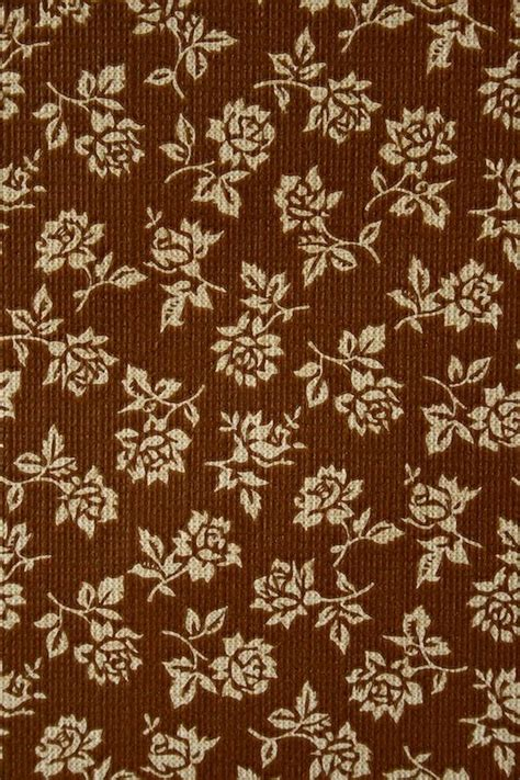 pattern background brown small pattern floral wallpaper background brown