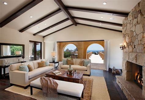 Cathedral Ceilings With Wood Beams by Looking Reclining Loveseat Decorating For Living Room Traditional