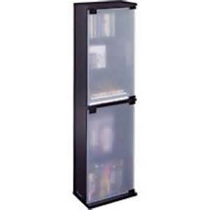 Dvd Cabinets With Doors Atlantic Oskar Dvd Wood Cabinet With Glass Doors