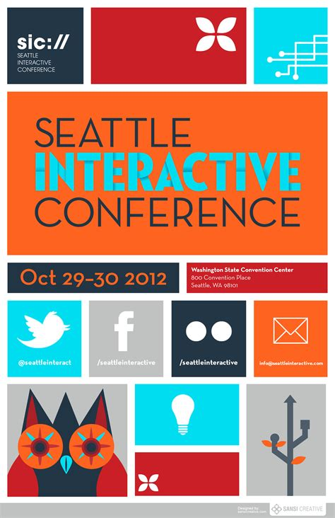 Poster Layout Conference | creative posters seattle interactive conference 2012
