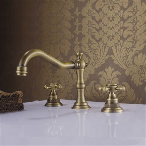 brass bathroom sink faucet antique sink faucet brass finish widespread bathroom sink