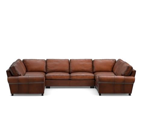 u shaped leather sectional turner roll arm leather 5 piece u shaped sectional