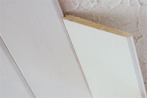 evertrue beadboard popcorn ceiling to plank ceiling the lettered cottage