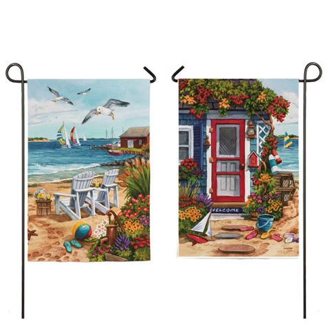 decorative flags for the home evergreen large decorative house garden flag 29x43 sided sea shore flags