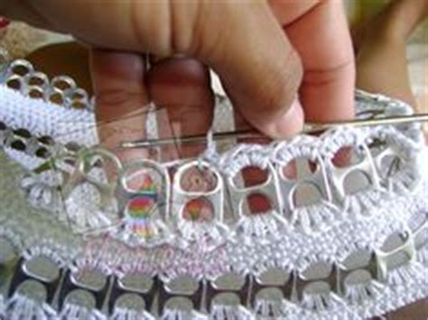 tejer con fichas de lata can taps on pinterest pop tabs soda tabs and pop can tabs