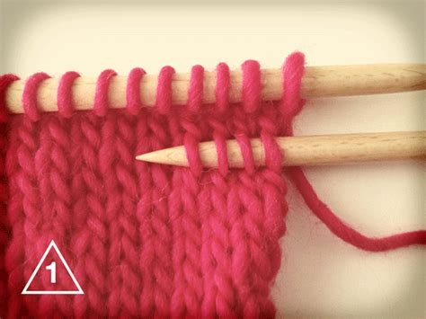 how to undo a row of knitting 2