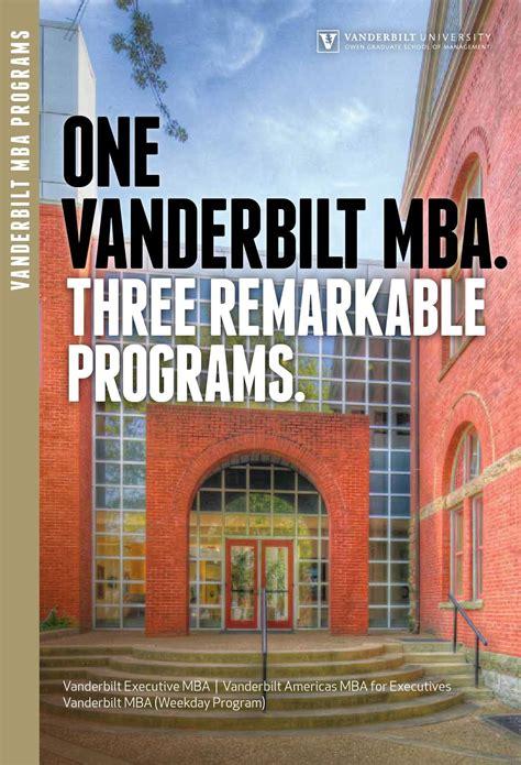 Vanderbilt One Year Mba by Vanderbilt Mba Programs By Vanderbilt Owen Graduate School